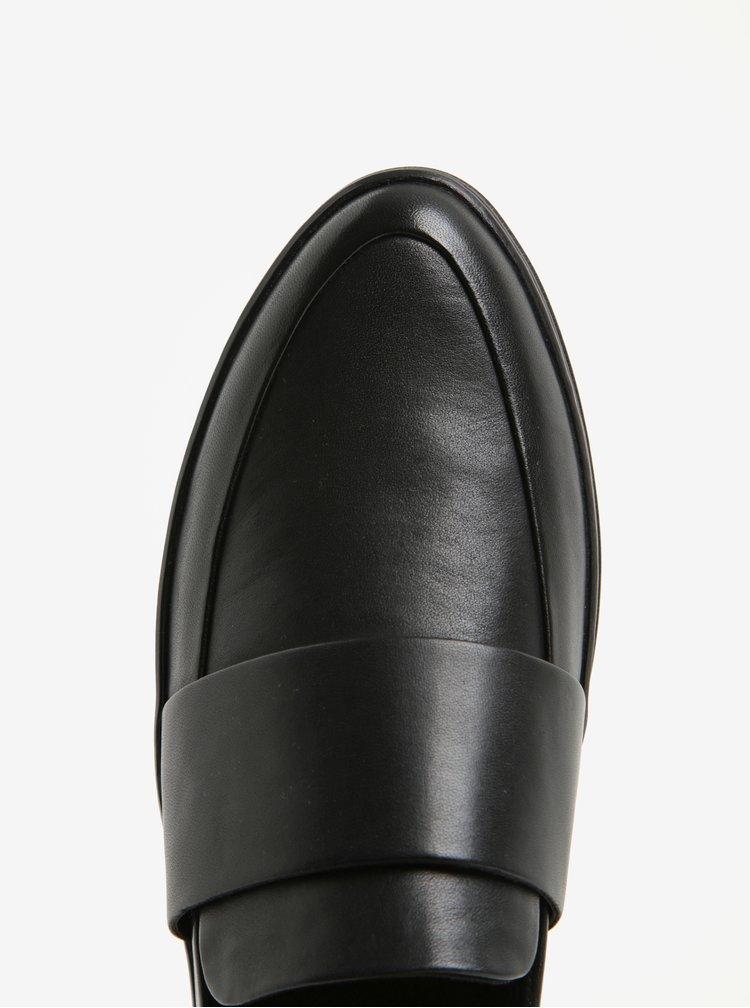 Černé dámské kožené polobotky na platformě Vagabond Camille