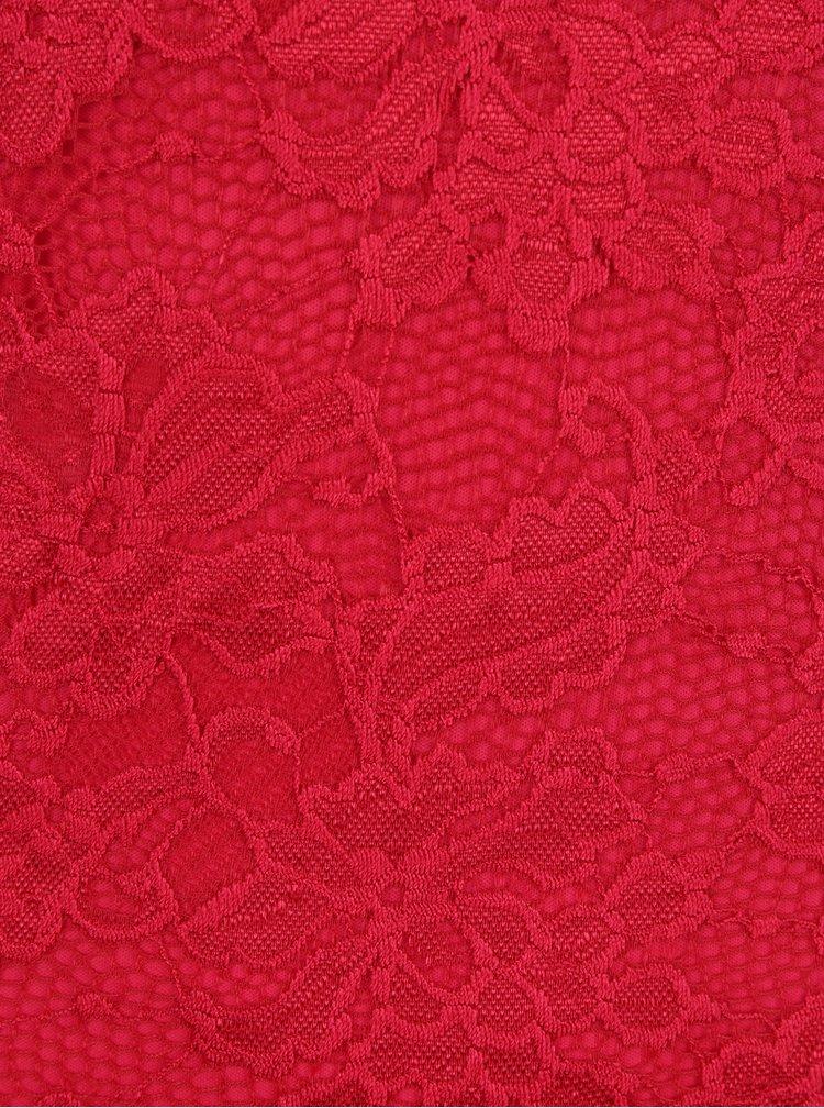 Rochie rosie din dantela cu decupaj pe spate - VERO MODA Joy
