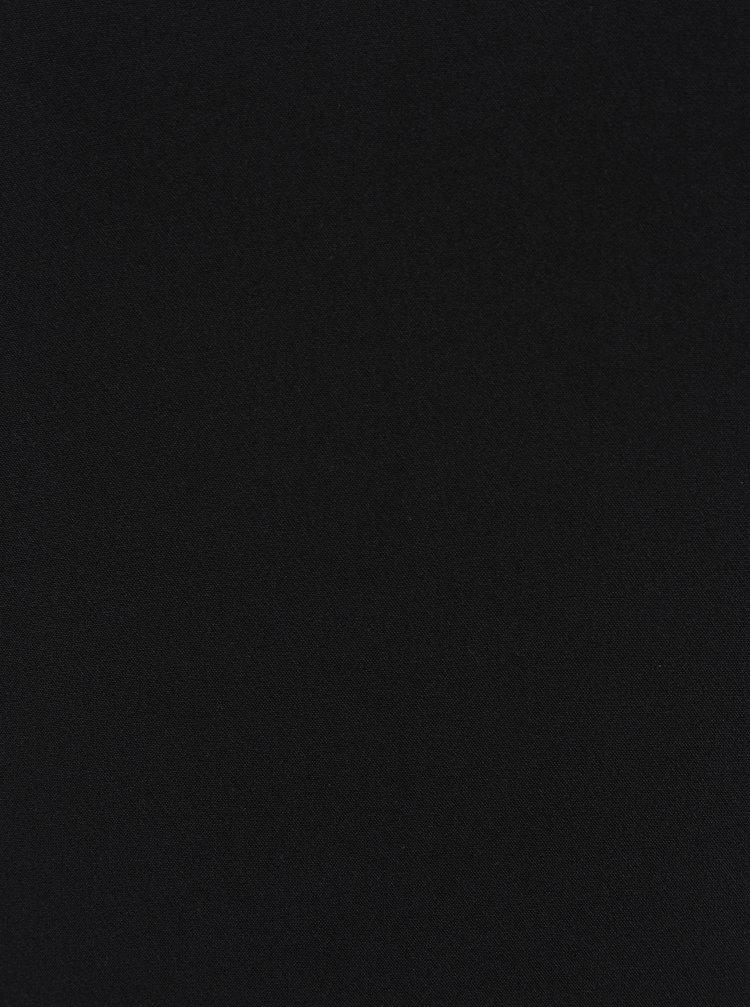 Černé asymetrické šaty s volánem VERO MODA Jinks