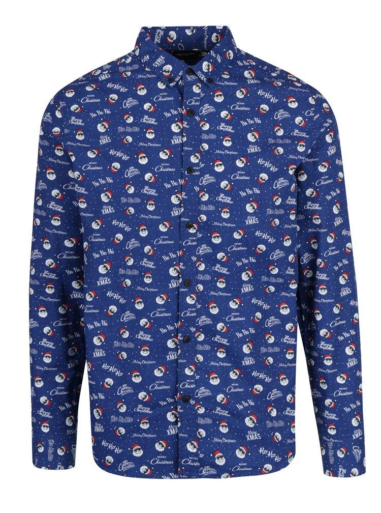 Modrá košile s vánočním motivem ONLY & SONS Owen Christmas