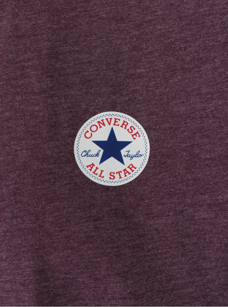 Tricou bordo cu print logo Converse Core Left Chest