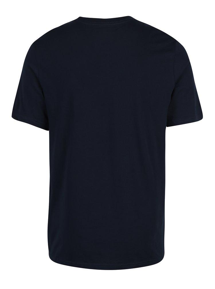 Tmavě modré pánské tričko s potiskem Converse Core