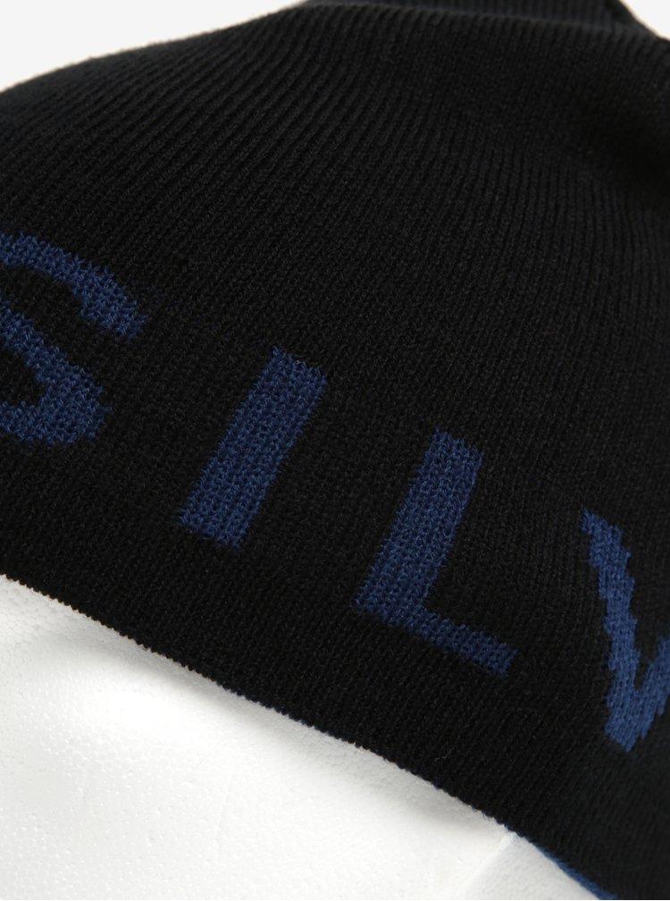 Caciula albastru inchis&negru cu 2 fete Quiksilver