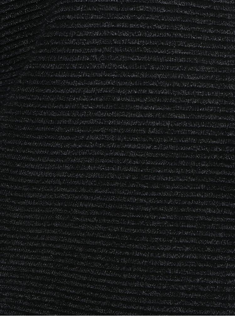 Černé žebrované sako VERO MODA Eva