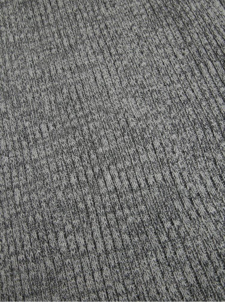 Světle šedá dámská žíhaná vlněná šála Calvin Klein Jeans Basic
