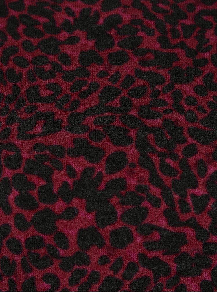 Černo-vínový vzorovaný svetr VERO MODA Savannah