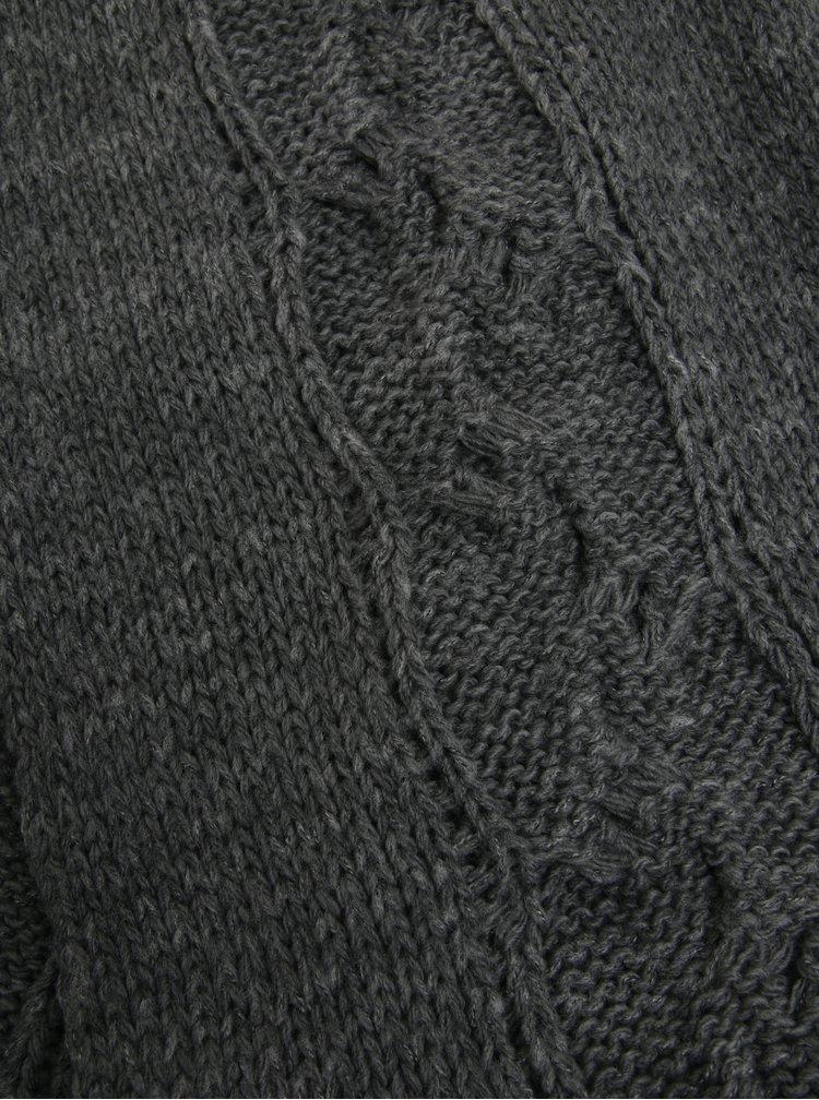 Šedá dámská vlněná šála se vzorem Calvin Klein Elza