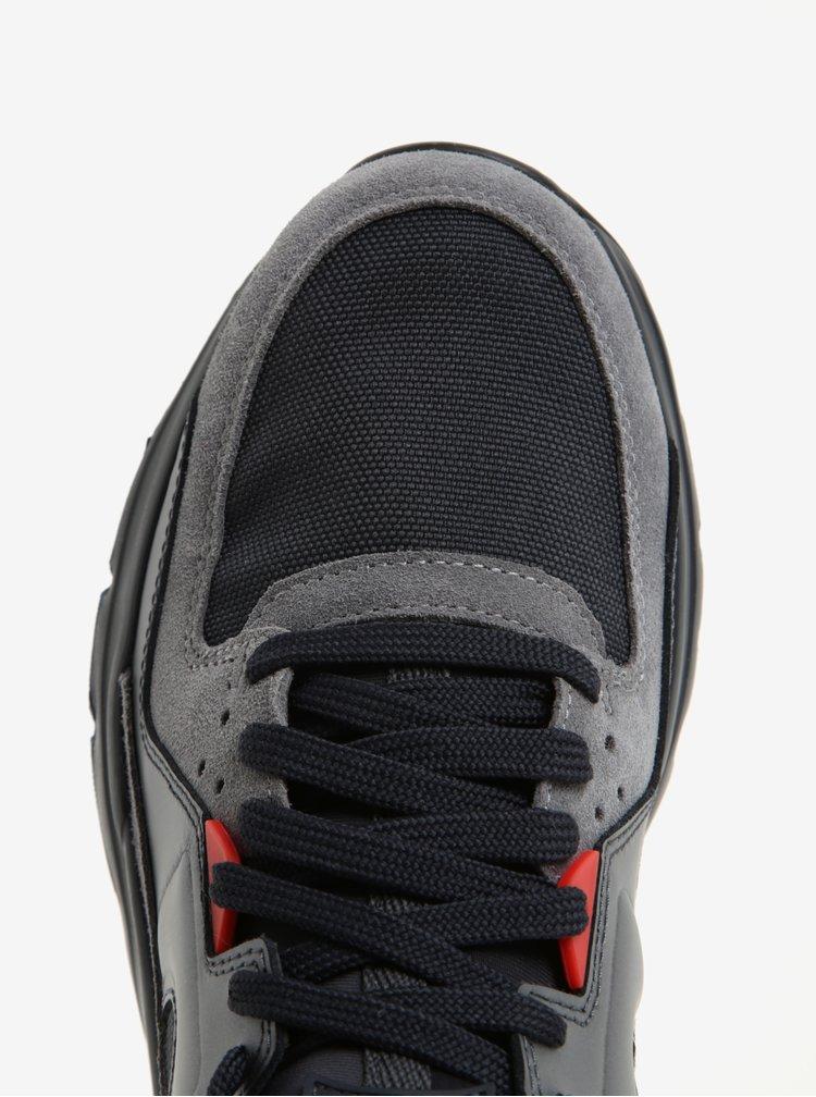 Modro-šedé pánské kožené sportovní tenisky Camper