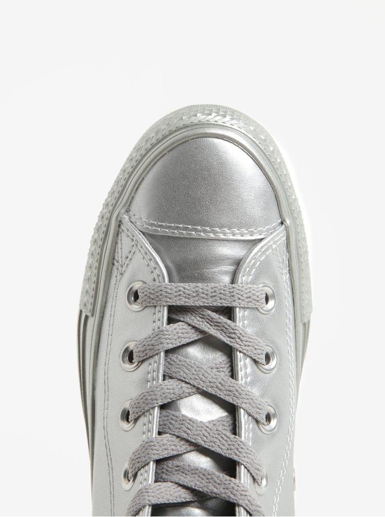 Bascheti inalti argintii pentru femei Converse Chuck Taylor All Star