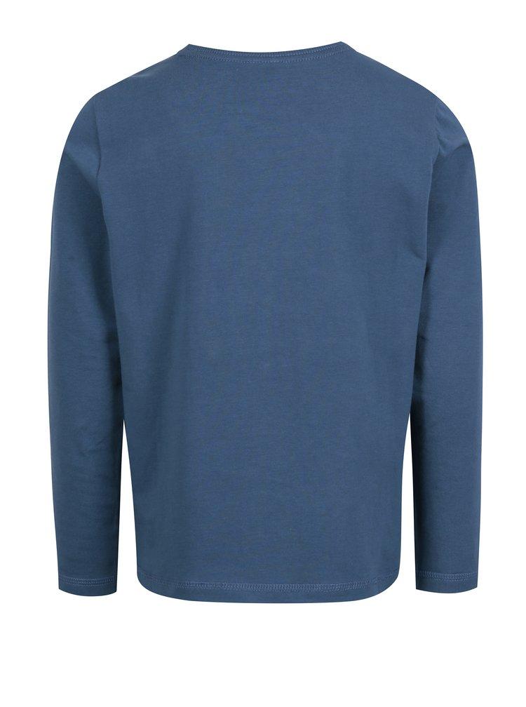 Modré klučičí tričko s potiskem Name it Kenim