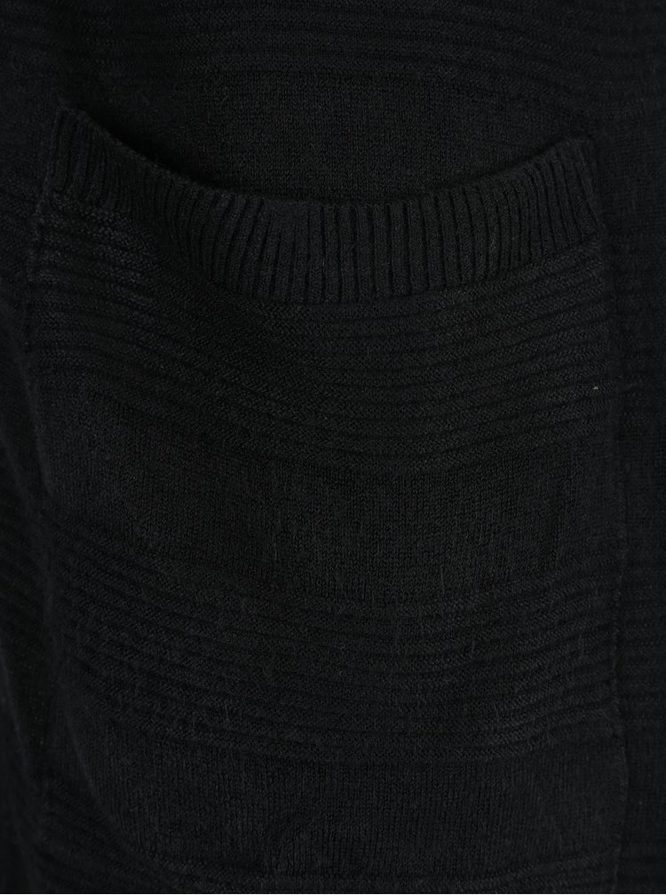 Černý dlouhý kardigan s kapsami a kapucí ONLY Caviar