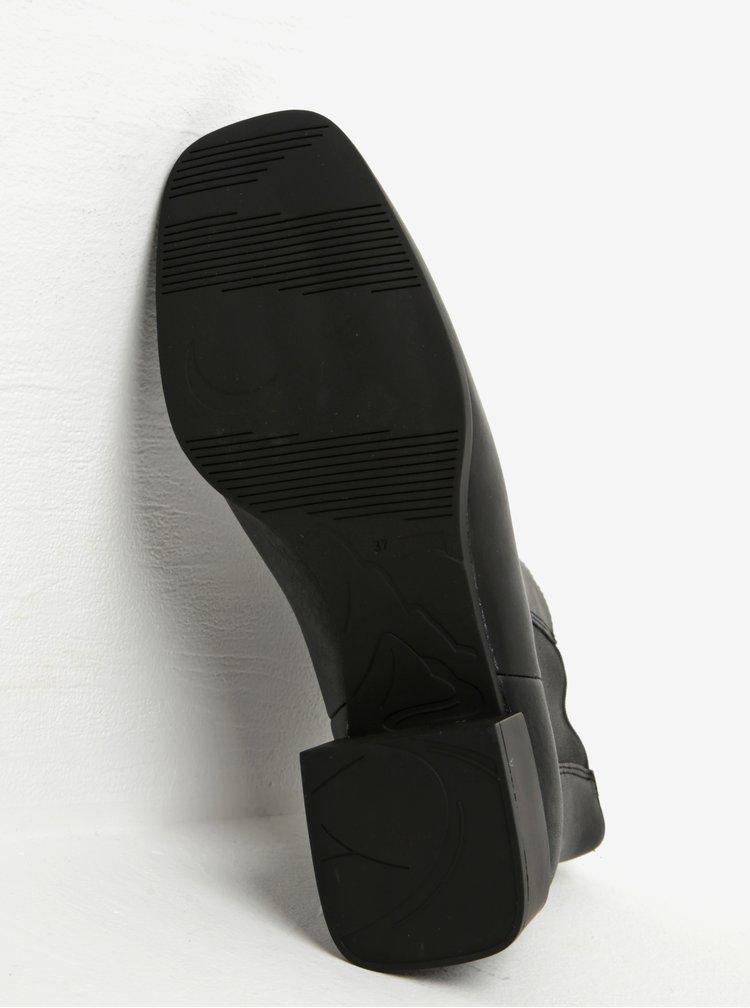 Černé dámské kožené chelsea boty Camper