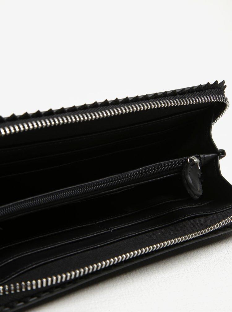 Černá peněženka se zipem Pieces Rosanne