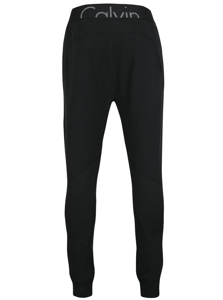 Černé pánské tepláky s kapsami na zip Calvin Klein Jeans Hiro
