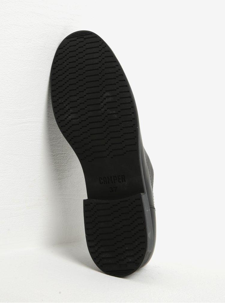 Černé dámské kožené polobotky Camper