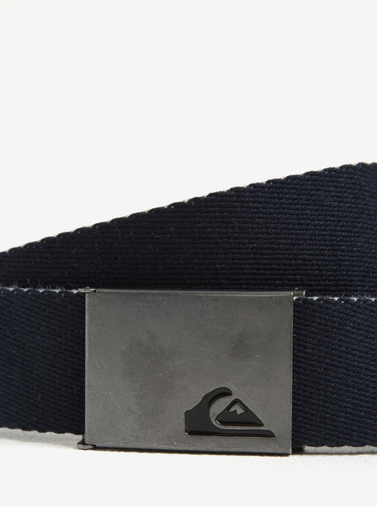 Curea albastru inchis din textil Quiksilver