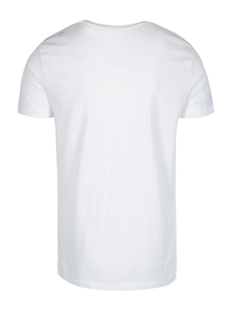 Bílé pánské tričko s potiskem Calvin Klein Jeans Tuo