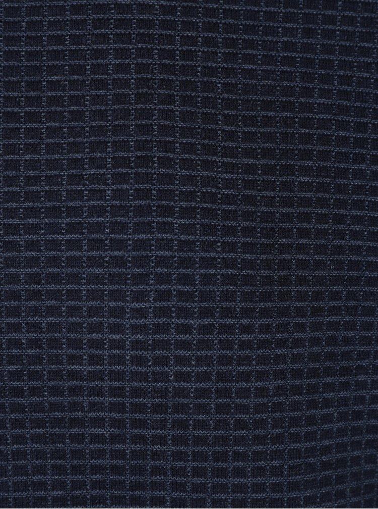 Pulover subtire albastru din bumbac - Fynch-Hatton