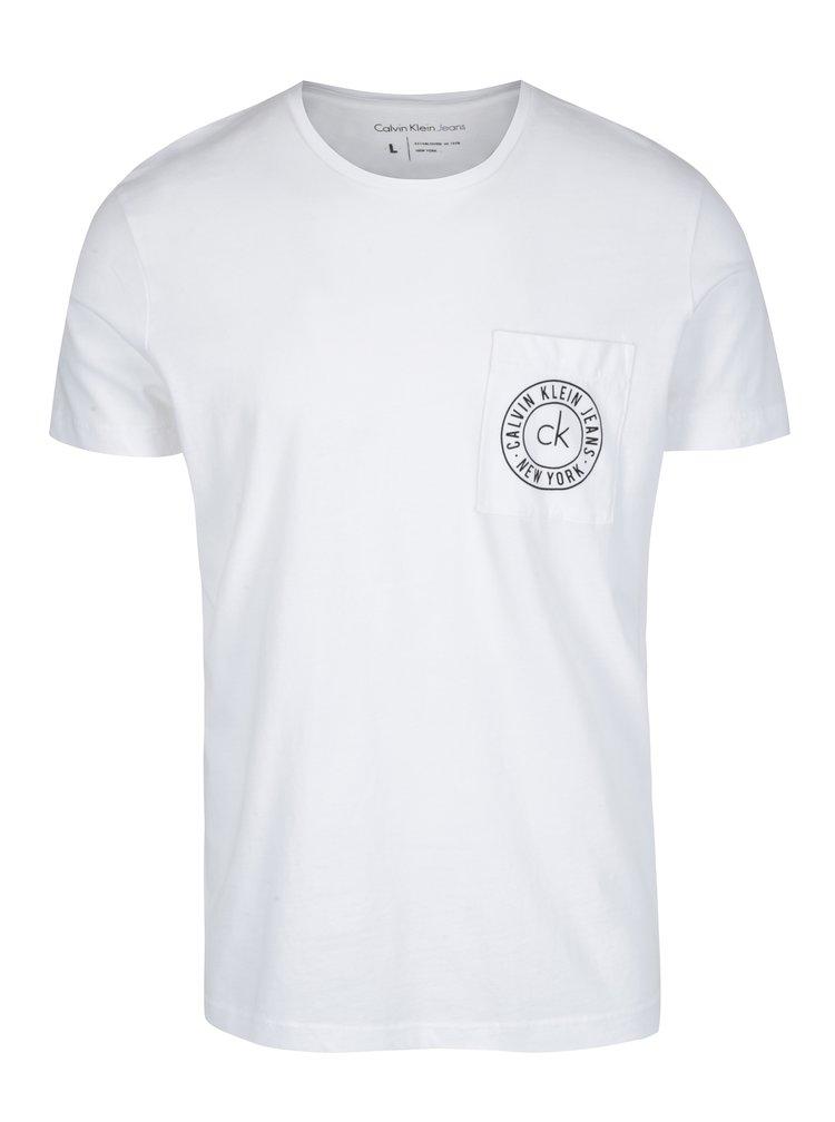 Bílé pánské tričko s krátkým rukávem Calvin Klein Jeans Typair