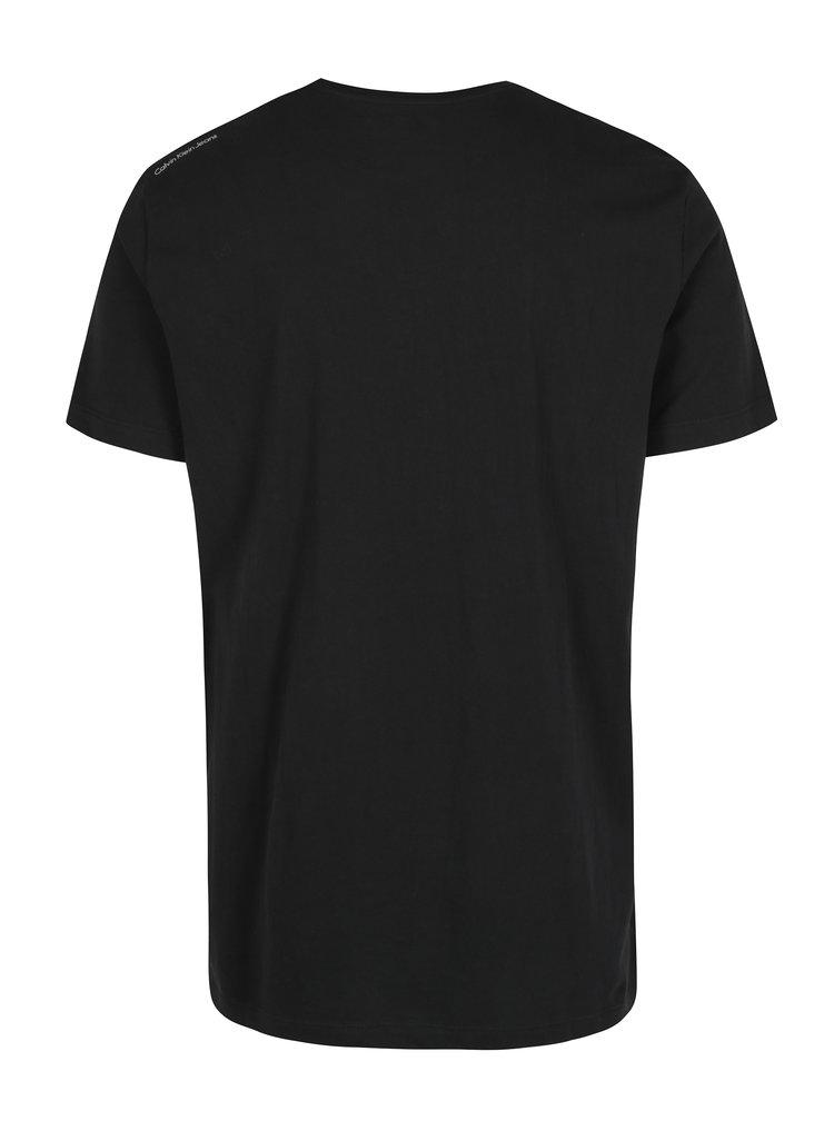 Čierne pánske tričko s krátkym rukávom Calvin Klein Jeans Typair