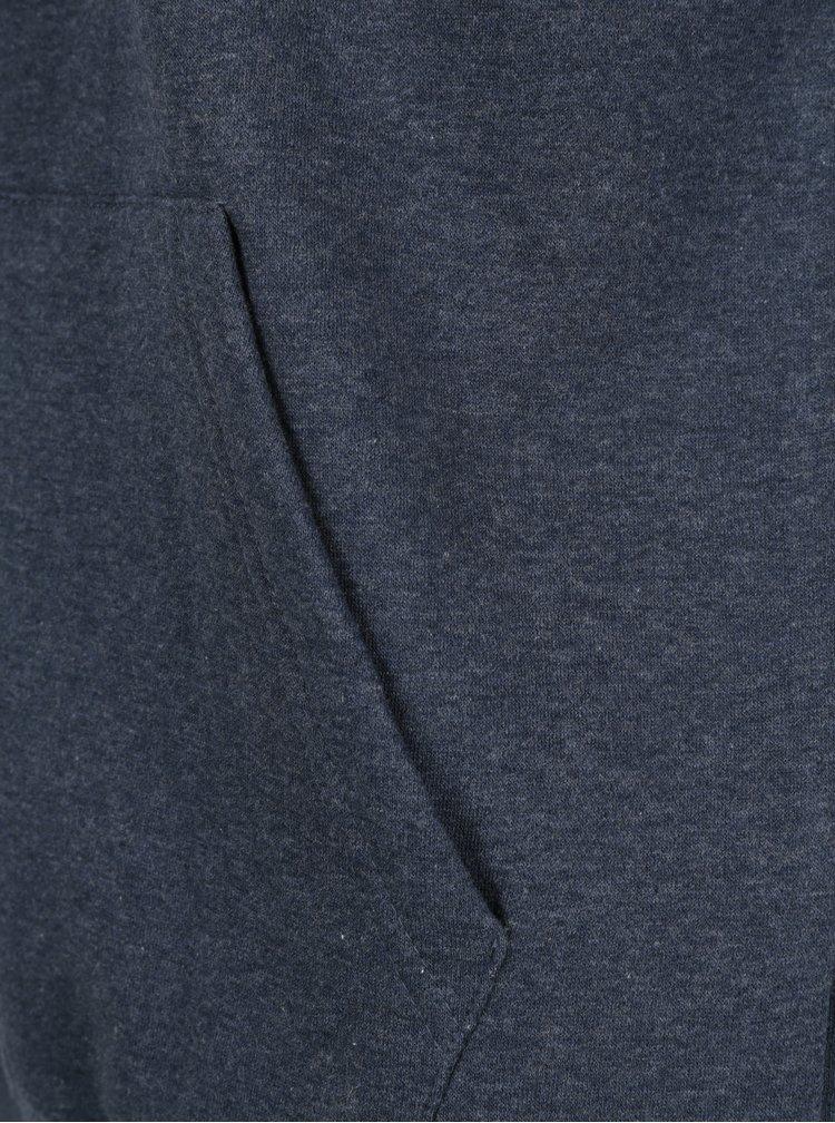 Hanorac albastru inchis cu print logo Quiksilver