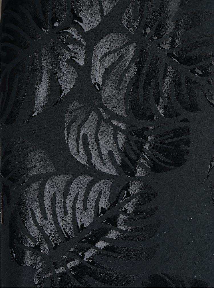 Geaca neagra impermeabila cu gluga si print magic Blutsgeschwister