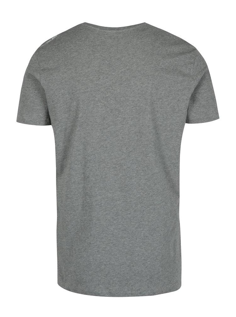 Šedé pánské žíhané tričko s potiskem Calvin Klein Jeans Treasure