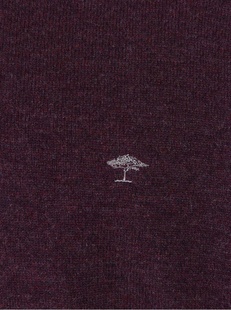 Pulover bordo din lana si amestec de casmir - Fynch-Hatton