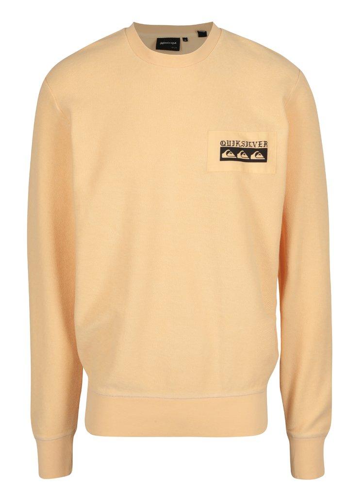 Bluza portocalie cu print logo Quiksilver