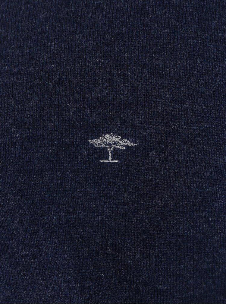 Pulover bleumarin din lana cu amestec de casmir - Fynch-Hatton