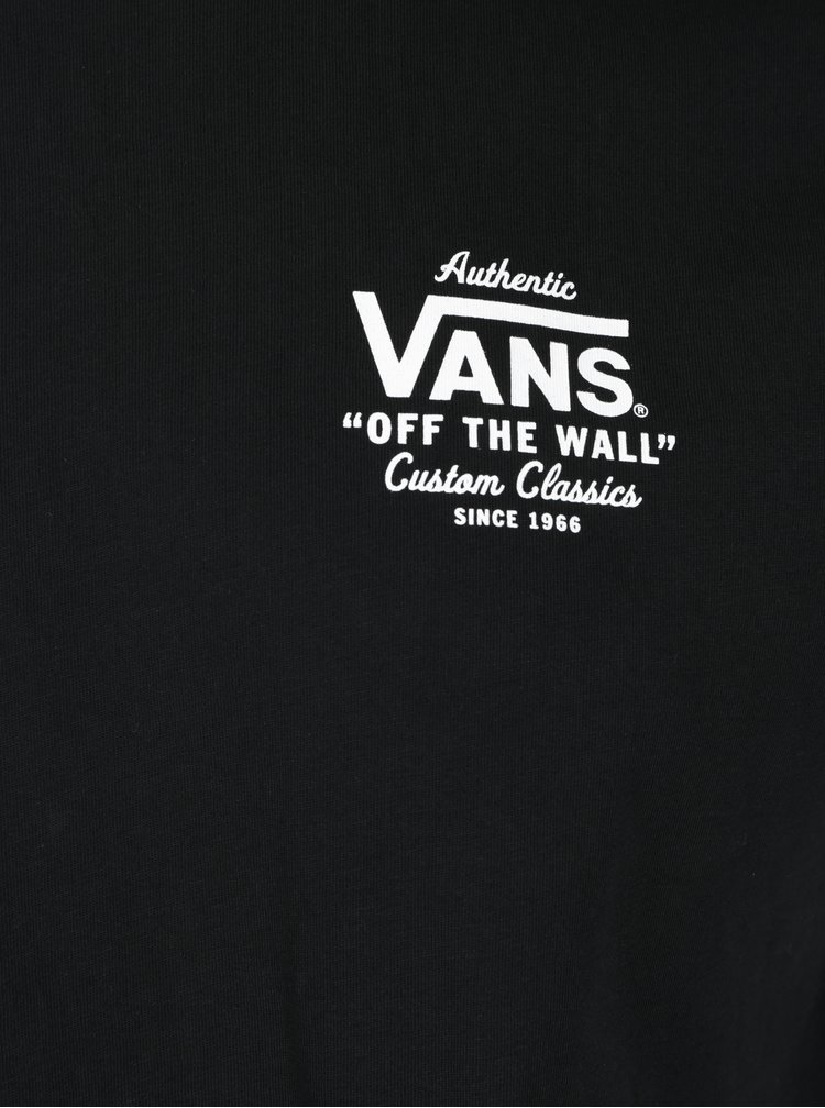 Tricou negru&alb cu print  VANS Holder