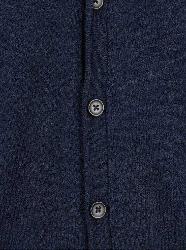 Vesta bleumarin din amestec de lana merino - Fynch-Hatton