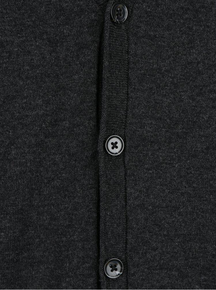 Tmavě šedá vesta z Merino vlny Fynch-Hatton