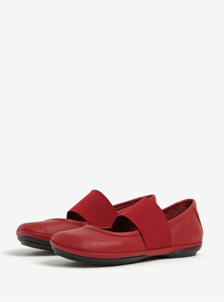 Červené kožené baleríny Camper