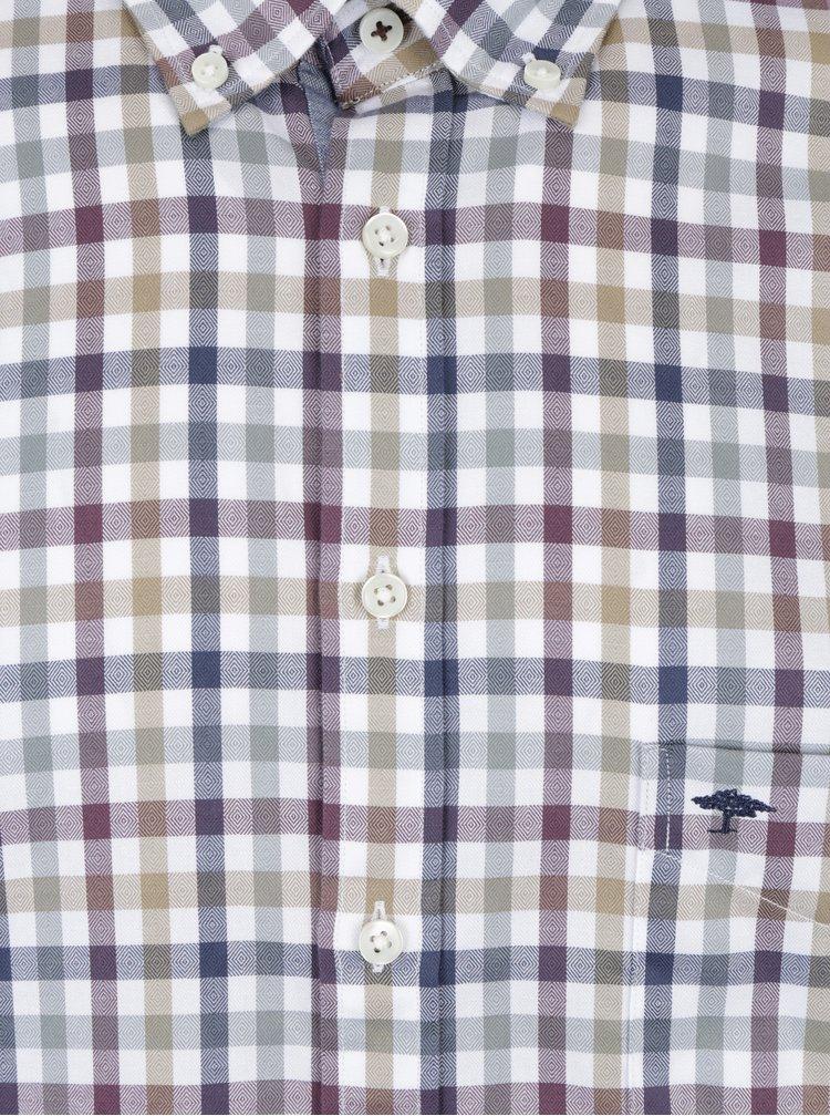 Fialovo-krémová kostkovaná košile Fynch-Hatton