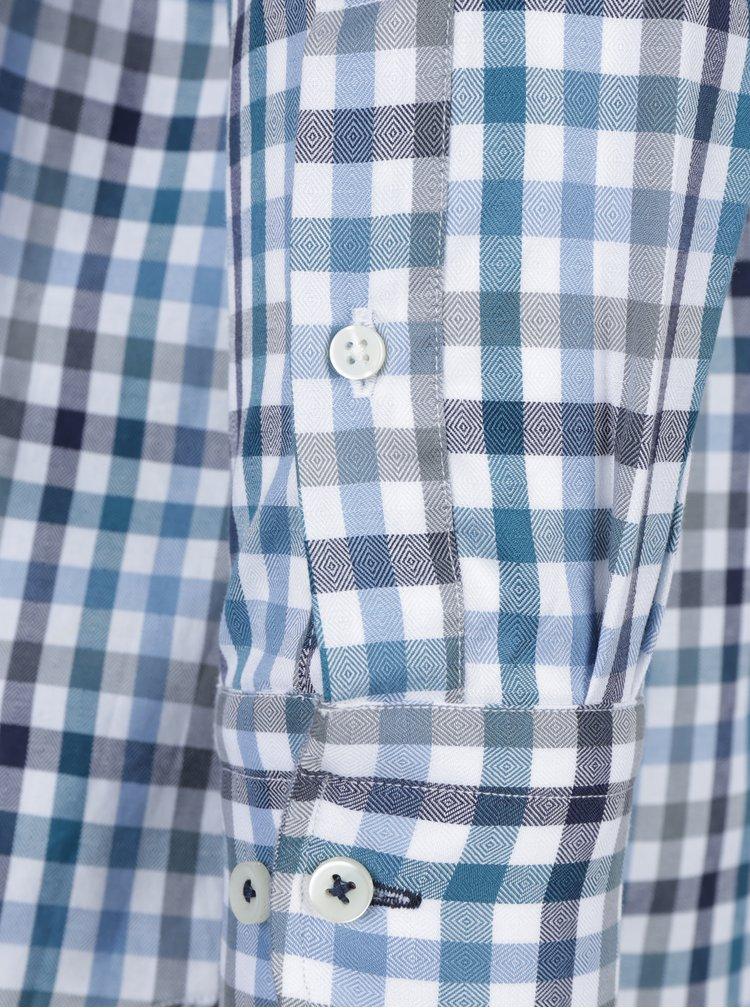 Camasa casual din bumbac cu carouri albastru & crem - Fynch-Hatton