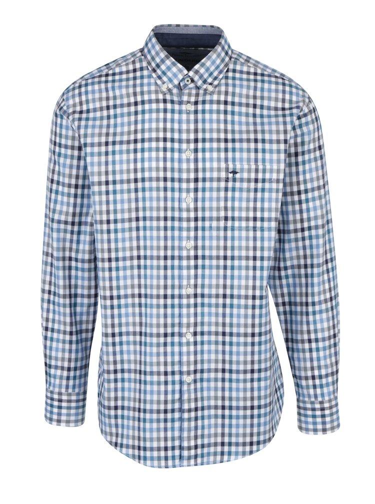 Krémovo-modrá kostkovaná košile s náprsní kapsou Fynch-Hatton  2637b8ea83