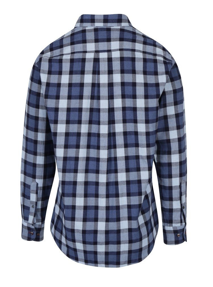 Modrá kostkovaná košile s náprsní kapsou Fynch-Hatton