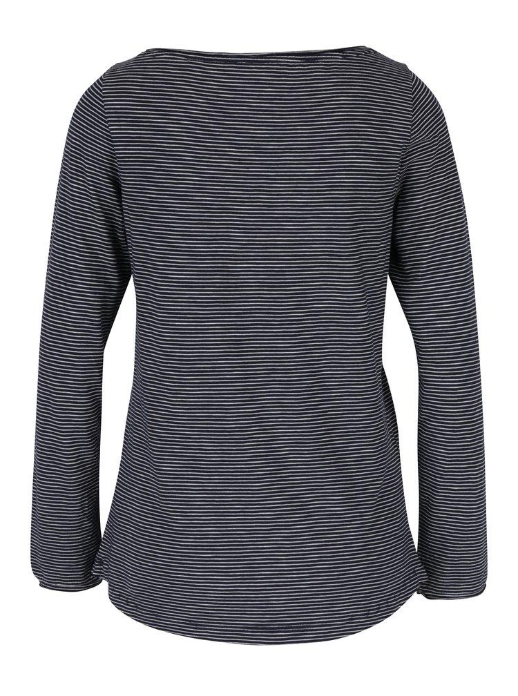 Bluza bleumarin&crem in dungi pentru femei s.Oliver