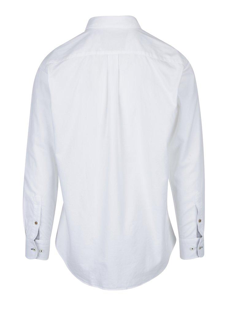 Camasa alba casual cu logo discret si buzunar la piept - Fynch-Hatton