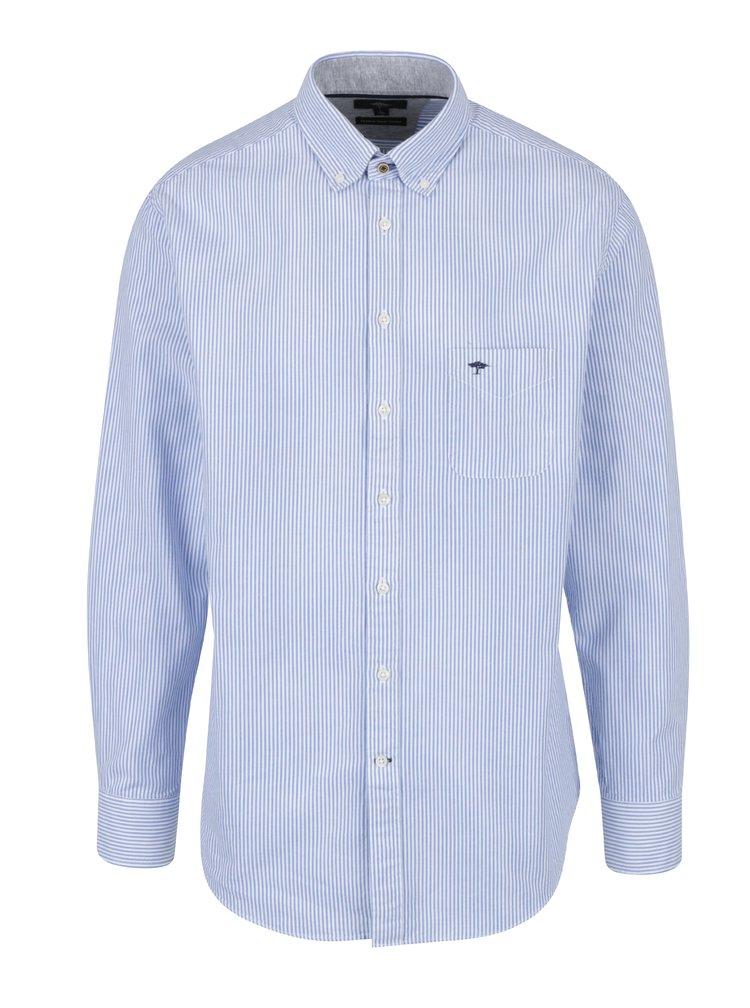 Camasa cu dungi alb & albastru si buzunar la piept - Fynch-Hatton