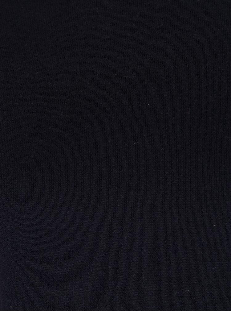 Tmavě modrý dámský svetr s pruhem na zádech s.Oliver