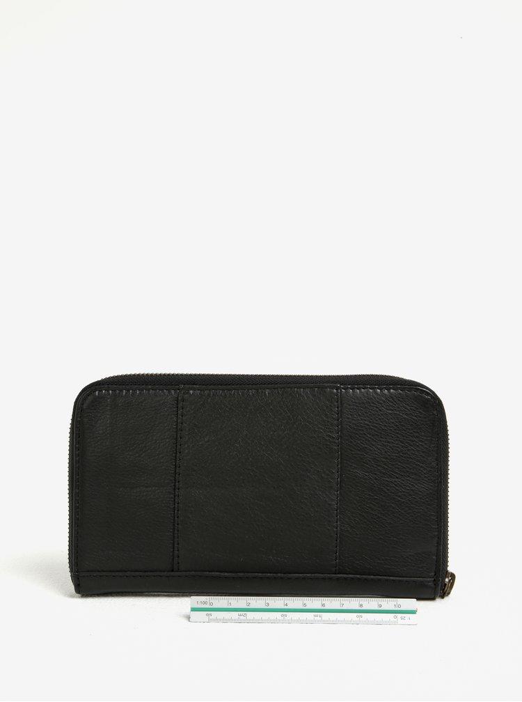 Černá dámská kožená peněženka Pieces Vibs
