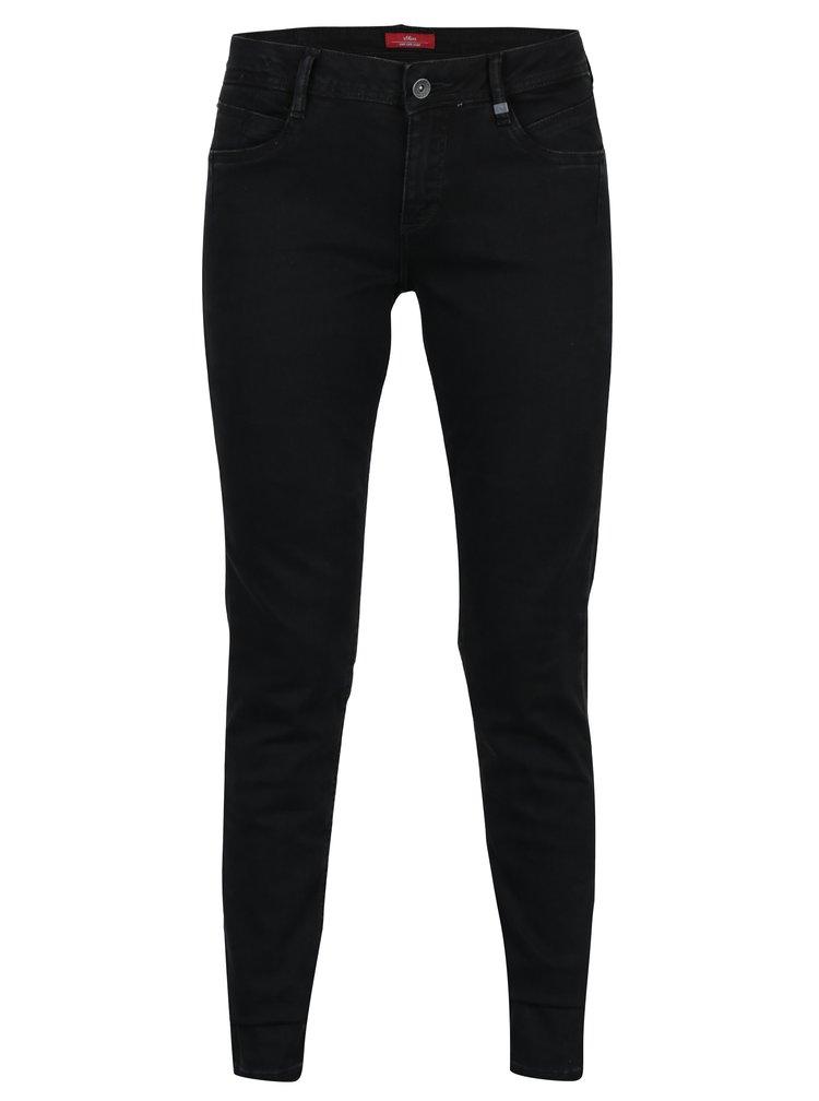 Černé dámské super skinny džíny s.Oliver