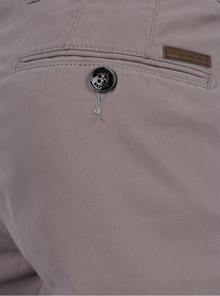 Šedé chino kalhoty Fynch-Hatton
