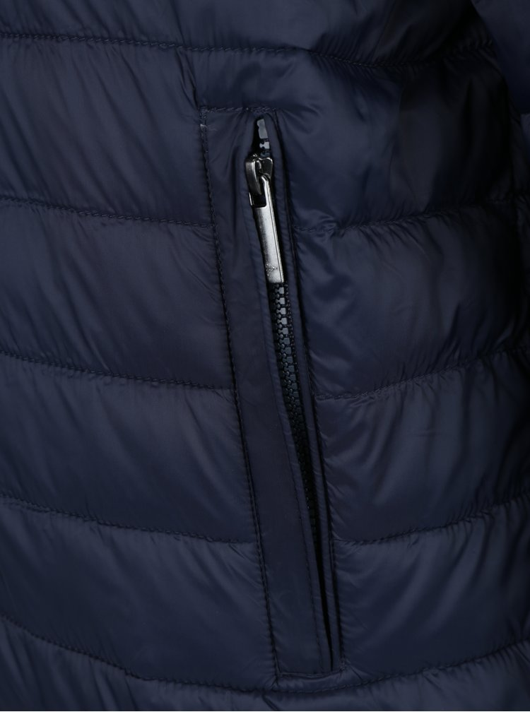 Tmavě modrá prošívaná oboustranná bunda s kapucí Fynch-Hatton