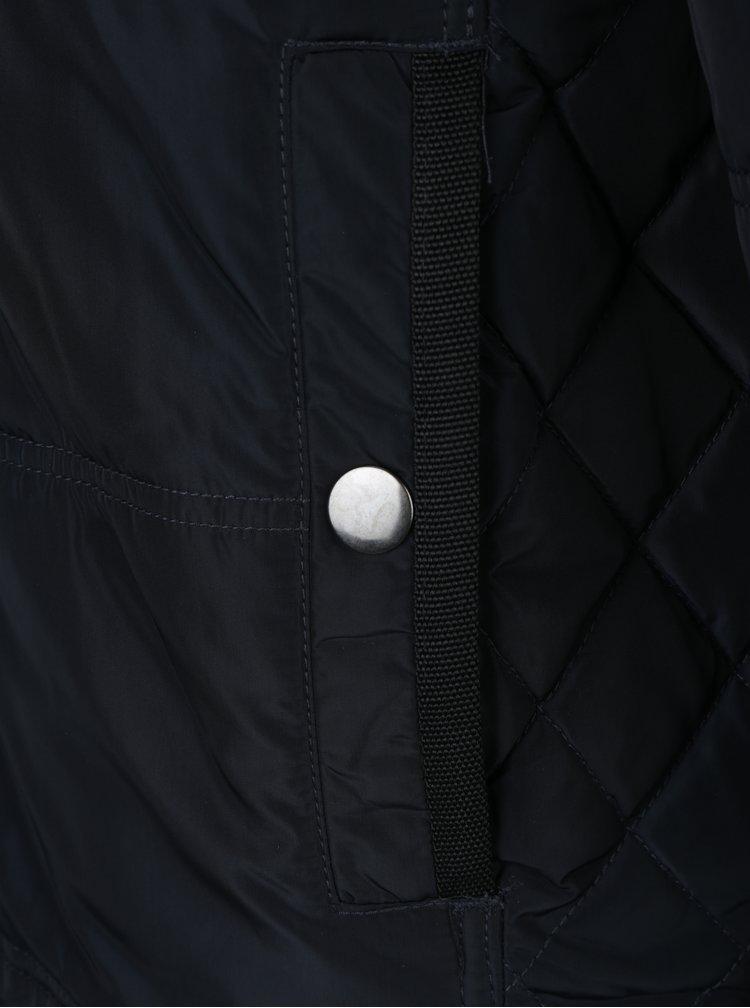 Tmavě modrá zimní bunda s kapucí Fynch-Hatton