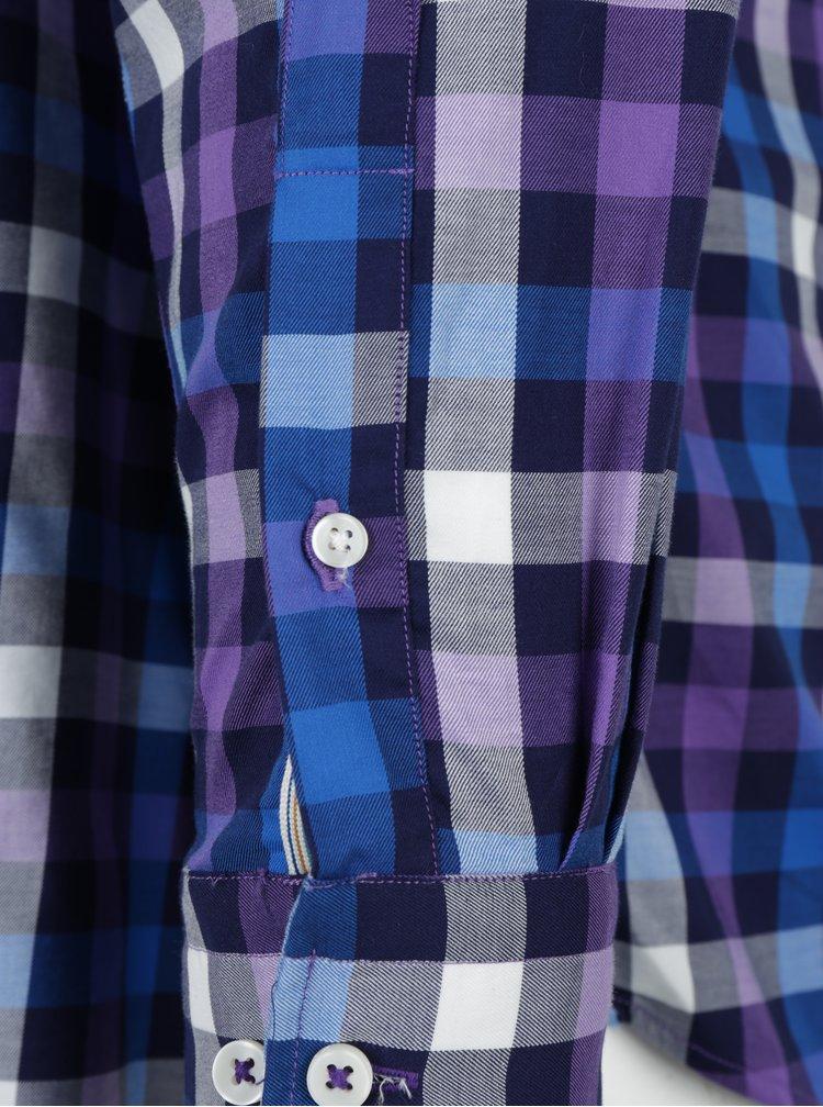 Camasa casual din bumbac cu carouri albastru & violet - Fynch-Hatton