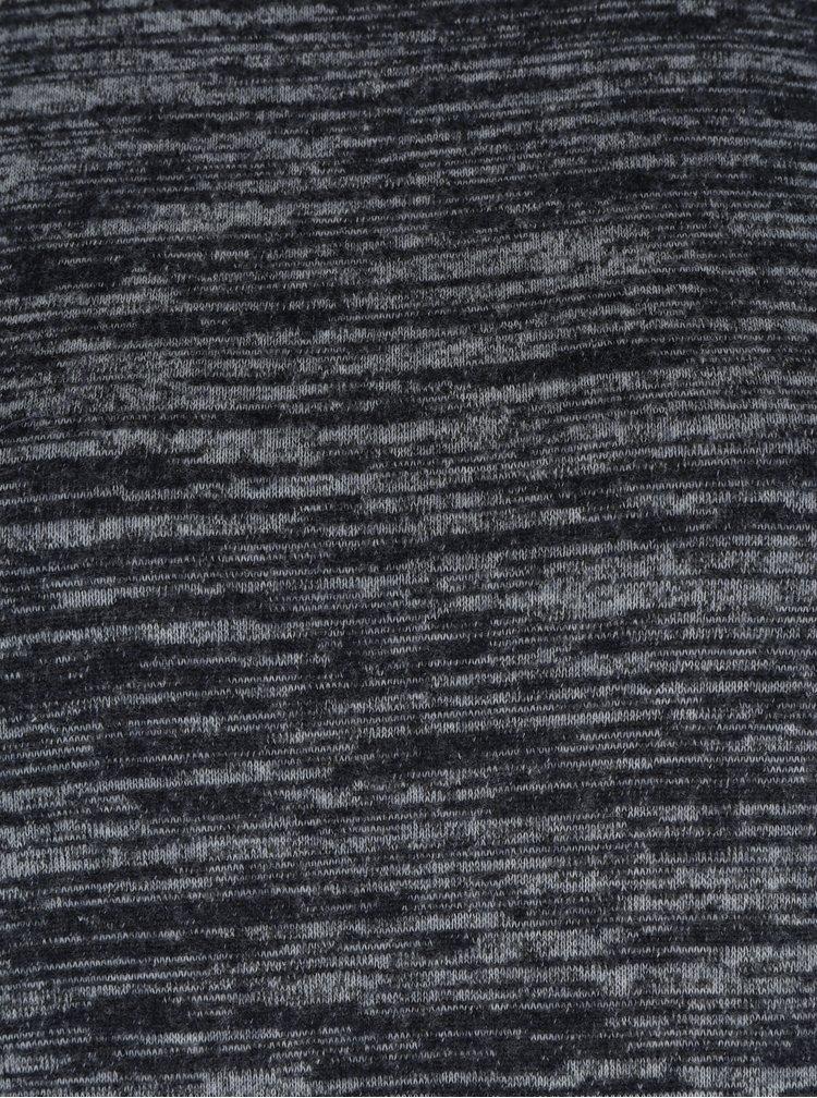 Tmavě šedý žíhaný svetr s krajkovými detaily ONLY Linea