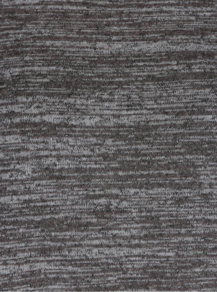 Pulover gri melanj cu detaliu din dantela ONLY Linea